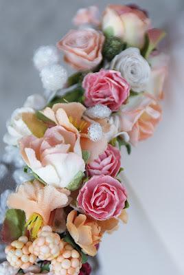 wianek brzoskwiniowy, ślub, wesele