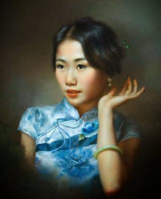 Rostros Hermosos de Mujeres de China