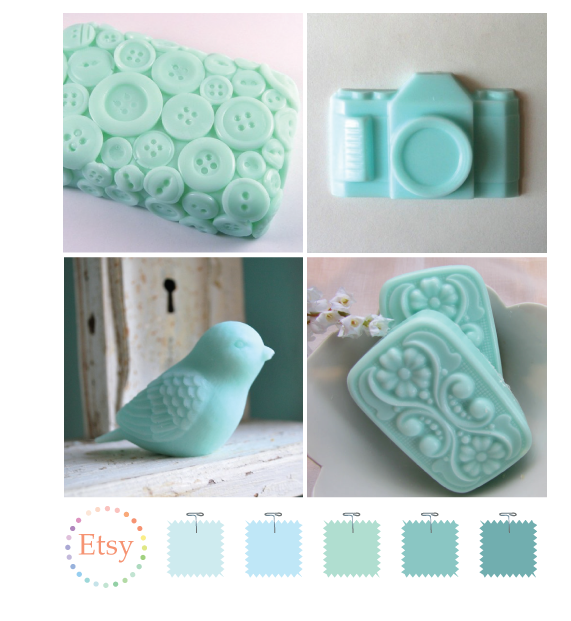 Aqua soaps on Etsy