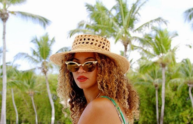 Beyonce Knowles shares a few pictures into her Instagram account during holiday on Thursday, April 10, 2014 in the Dominican Republic