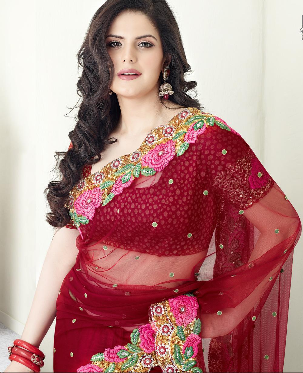 zarin khan photoshoot in sari   missy lovesx3