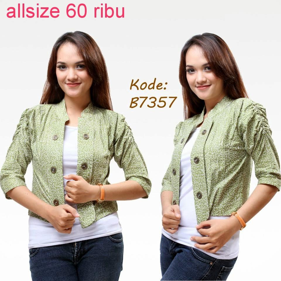 Model Baju Atasan Batik