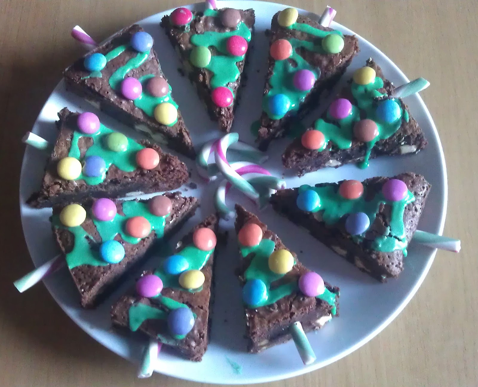 chocolate brownie christmas trees
