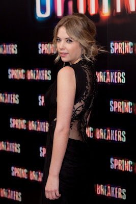 ashley benson's black dress back