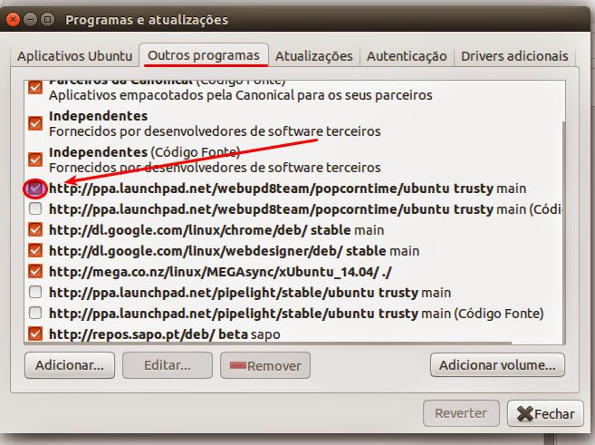 Configurações de PPAs no Ubuntu