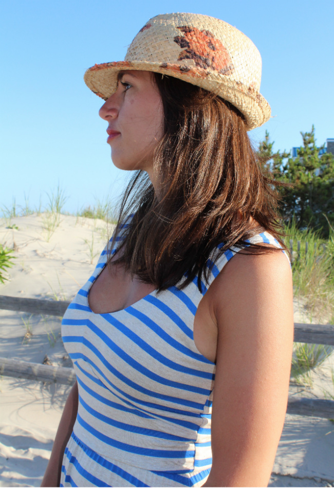 summer stripes and fedora