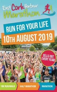 Marathon, Half-Marathon & 10k in East Cork... Sat 10th Aug 2019