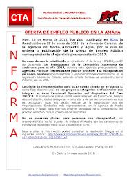 OFERTA DE EMPLEO PÚBLICO EN LA AMAYA