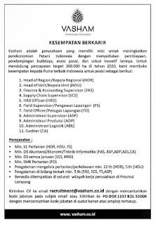 Lowongan Kerja Lampung di VASHAM