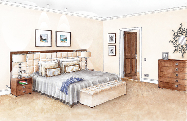 Foundation dezin decor sketch of bedroom for Bedroom designs sketch