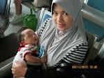 Afif dan mama balik Tawau (2 month)