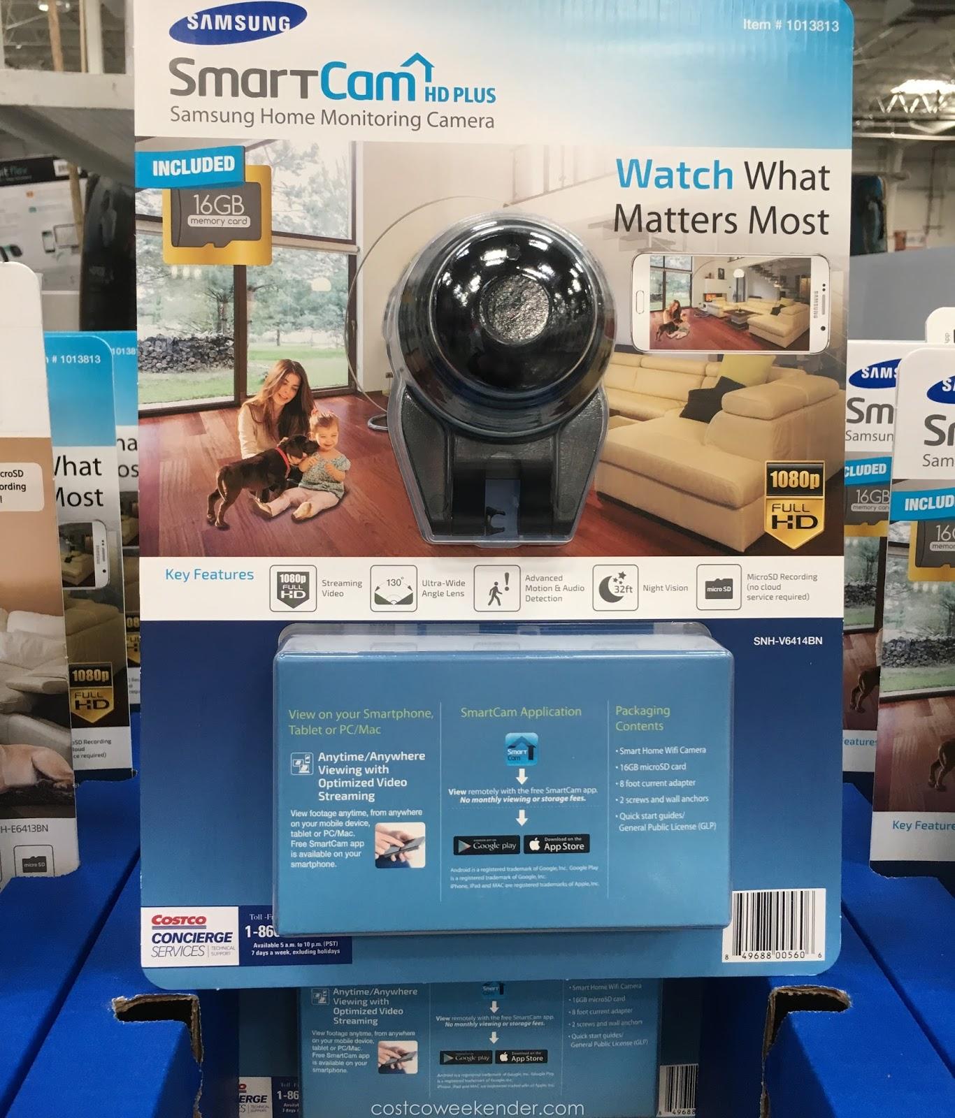 Samsung SmartCam HD Plus Home Monitoring Camera SNH-V6414BN ...