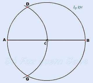 Traçando-se dois vértices do hexágono regular