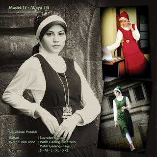 Koleksi Mazaya Muslimah Putih gading marun Hijau