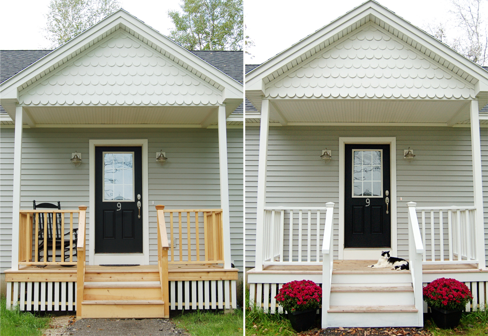 Crafty teacher lady a painted porch for Painted deck pictures