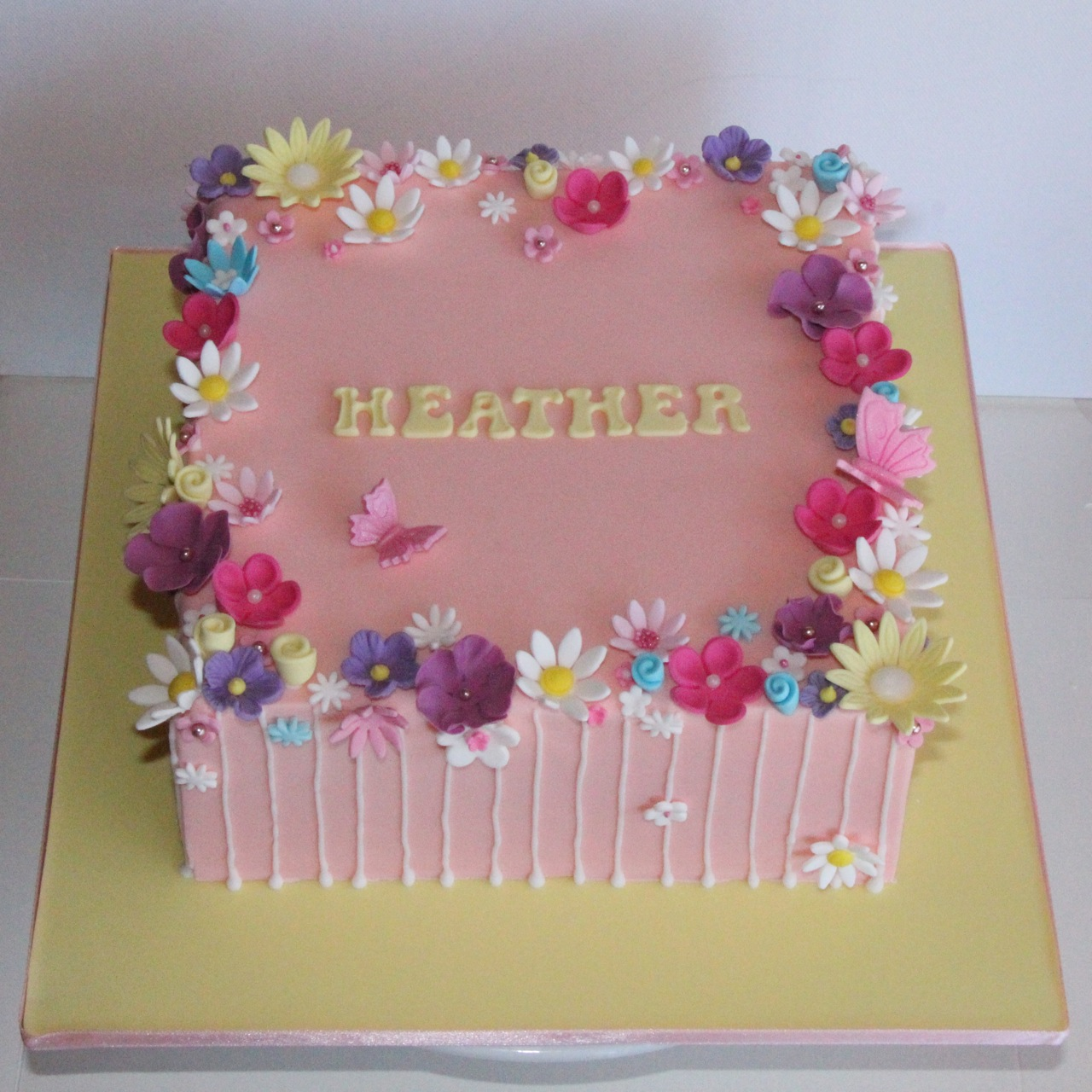 Cake Design Ideas With Flowers : Coco Jo Cake Design: Flower garden cake