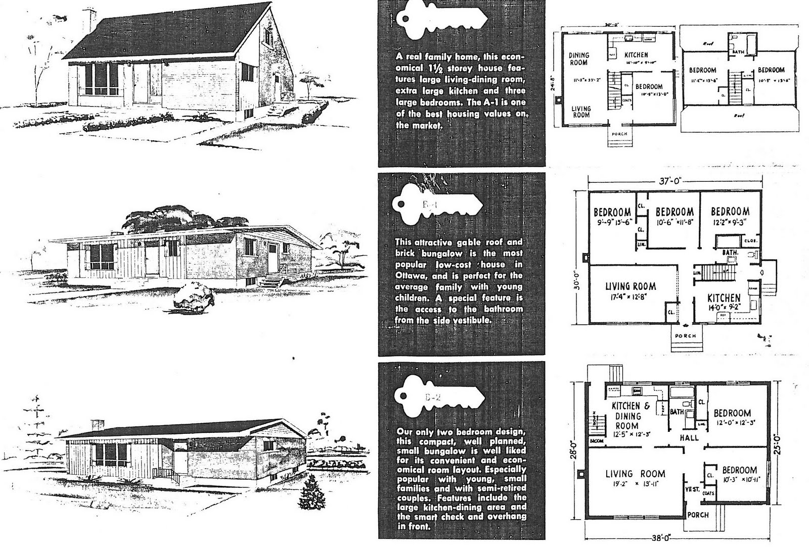 Mid century modern and 1970s era ottawa campeau in the for 1960 s home plans
