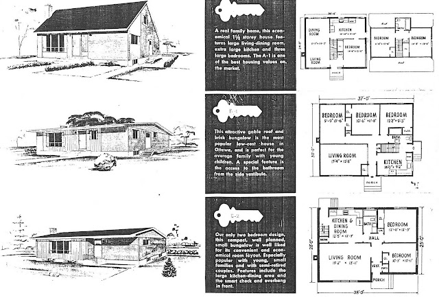 Mid century modern and 1970s era ottawa campeau in the for 1950s cape cod house plans