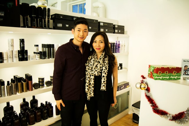 Salon Haze stylists and owners Tim Kuo and Loretta Tom