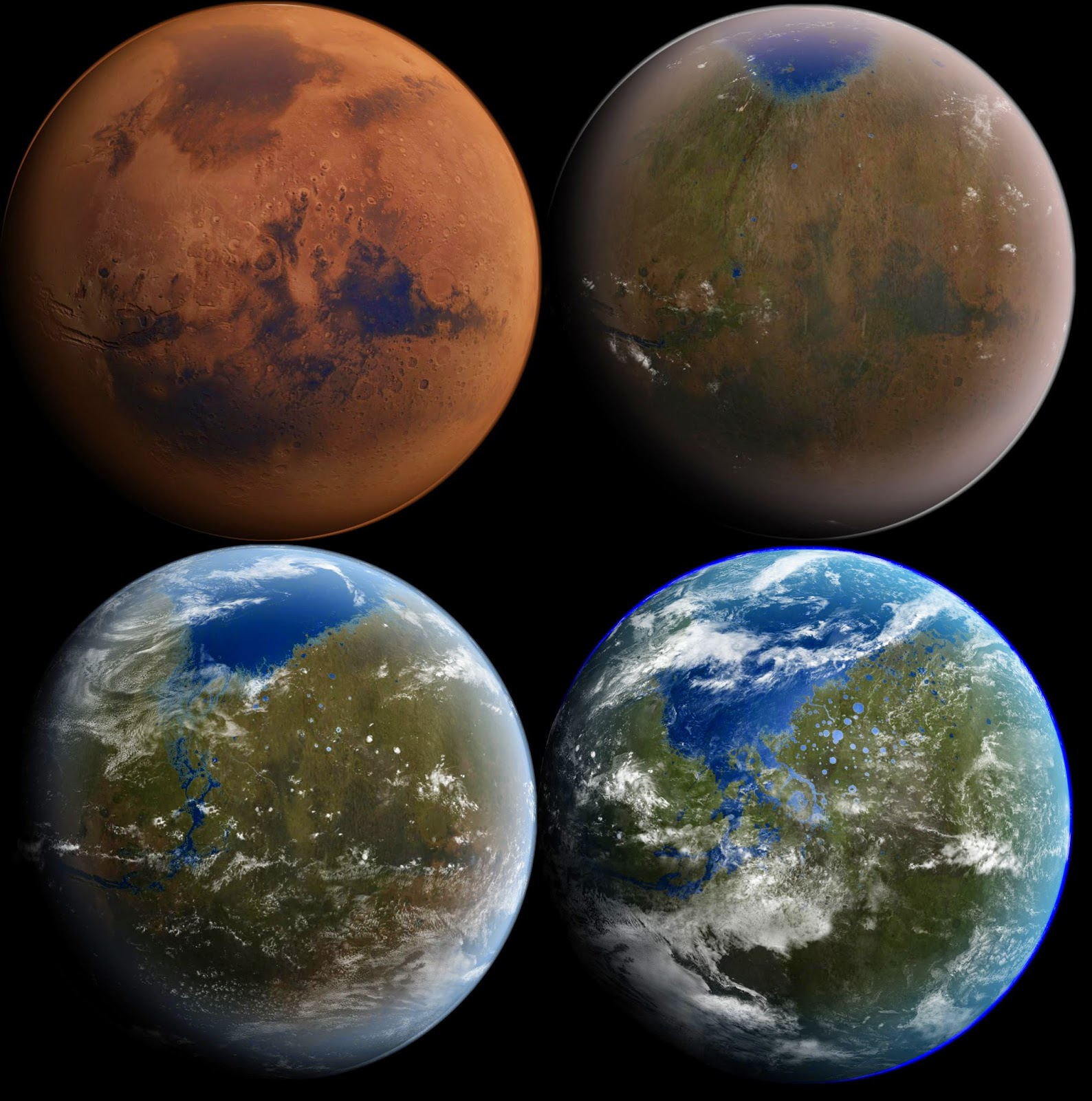 Terramformacion del planeta Marte en 4 etapas