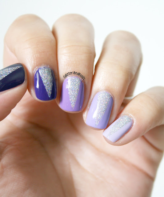 Glitter and nails ombr nails triangles glitter for A q nail salon collinsville il