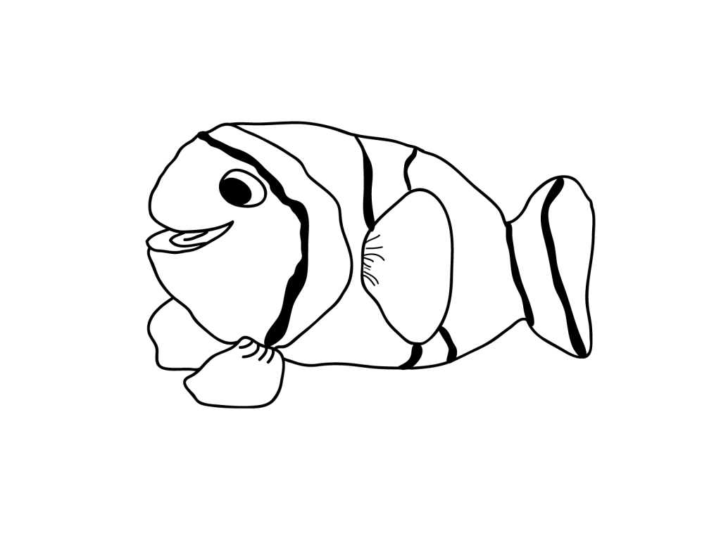 cute fish for kid coloring drawing free wallpaper anggela