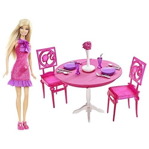 Mundo encantado da barbie sala de jantar da barbie for O significado de dining room
