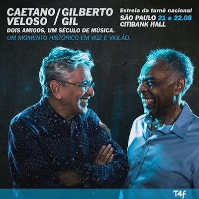 Caetano e Gil abrem mais um show extra em SP