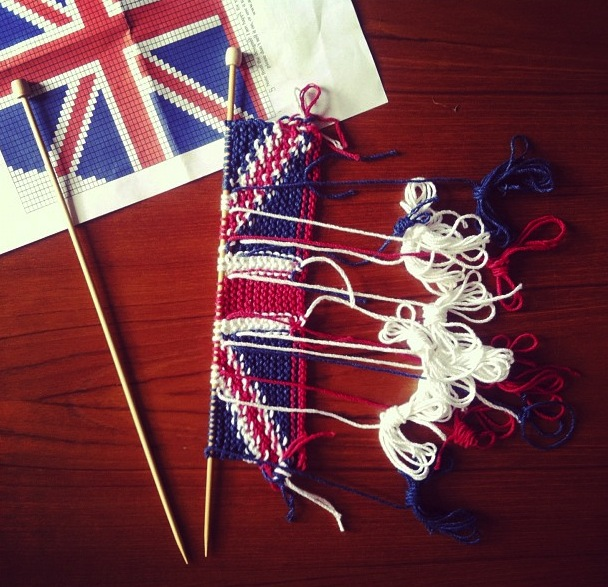anna knits, etc.: anna knits - union jack tea cosy update 1