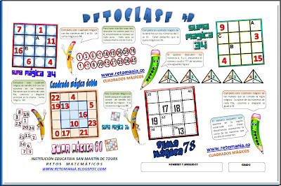 Retos matemáticos, desafíos matemáticos, problemas matemáticos, problemas de ingenio, problemas de números, problemas para pensar, cuadrados mágicos, cuadrado mágico, cuadrado mágico doble, cuadrados mágicos con solución