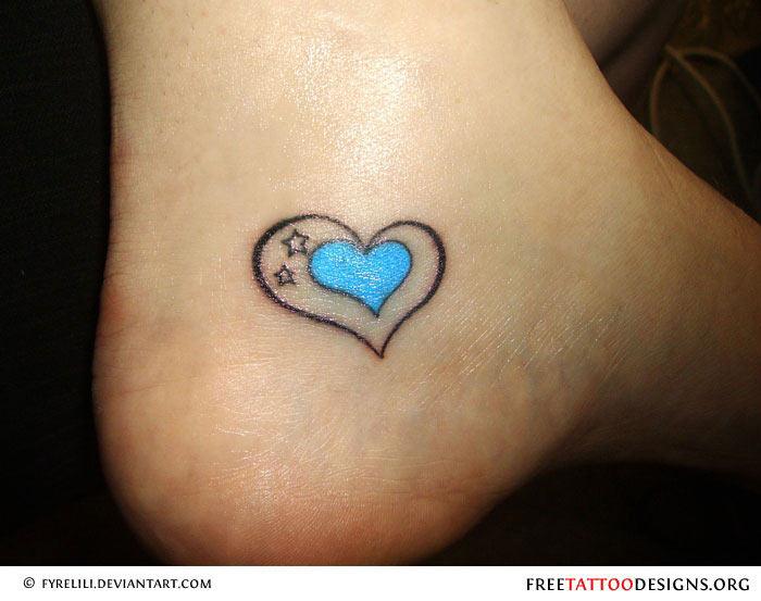 Love infinity tattoo designsHeart Tattoos On Ankle