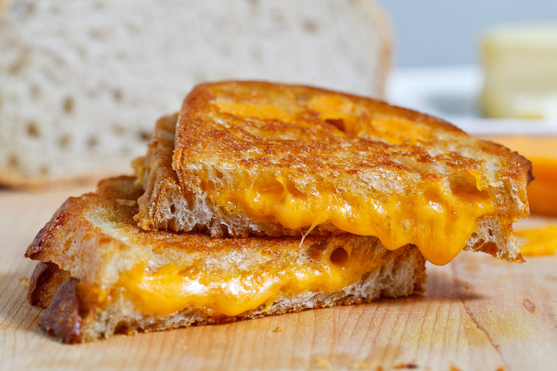 cheese are the best part of the grilled cheese sandwich