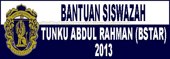 Tawaran Bantuan Siswazah Tunku Abdul Rahman 2013