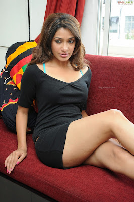 Actress Akshara in Black Skirt & Black Top - Tollywood Glam Girl