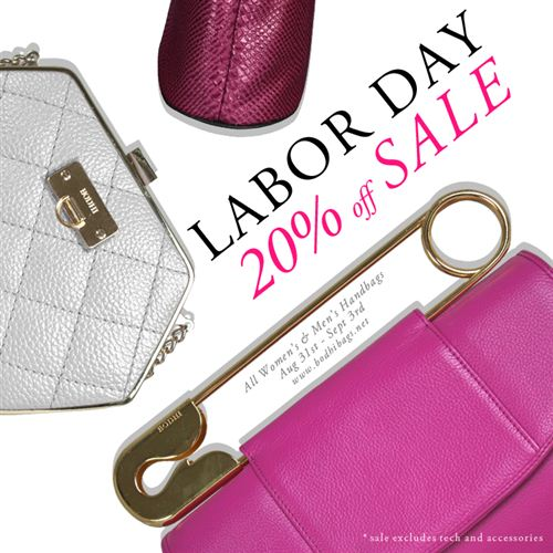 Popular Labor Day Images For Facebook Posts: Labor Day Sale Off 20% Advertisement For Bag On Facebook