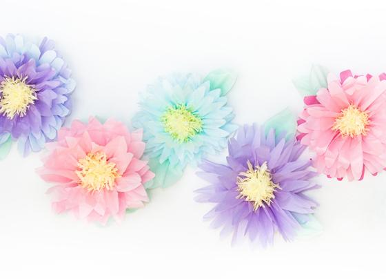 Ανοιξιάτικα λουλούδια pom-pom