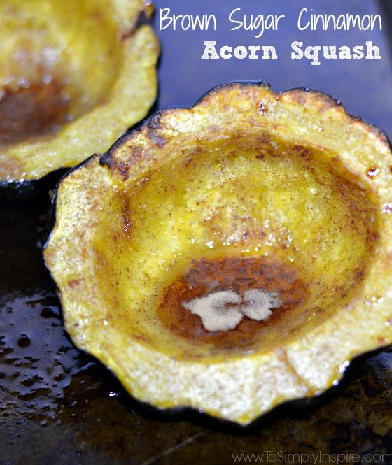 Baked Brown Sugar Cinnamon Acorn Squash at To Simply Inspire. Sherri ...