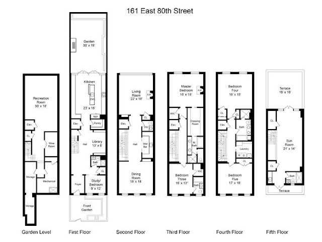 Floor plan of home on the upper east side in NYC