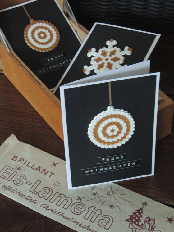 Weihnachtskarten mit b gelperlen sind der hit f r kids for Weihnachtskarten mit kindern basteln