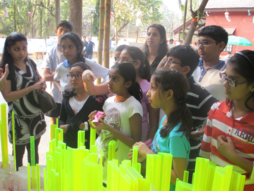 Interactive Discussions, children at Origami Vision Workshop