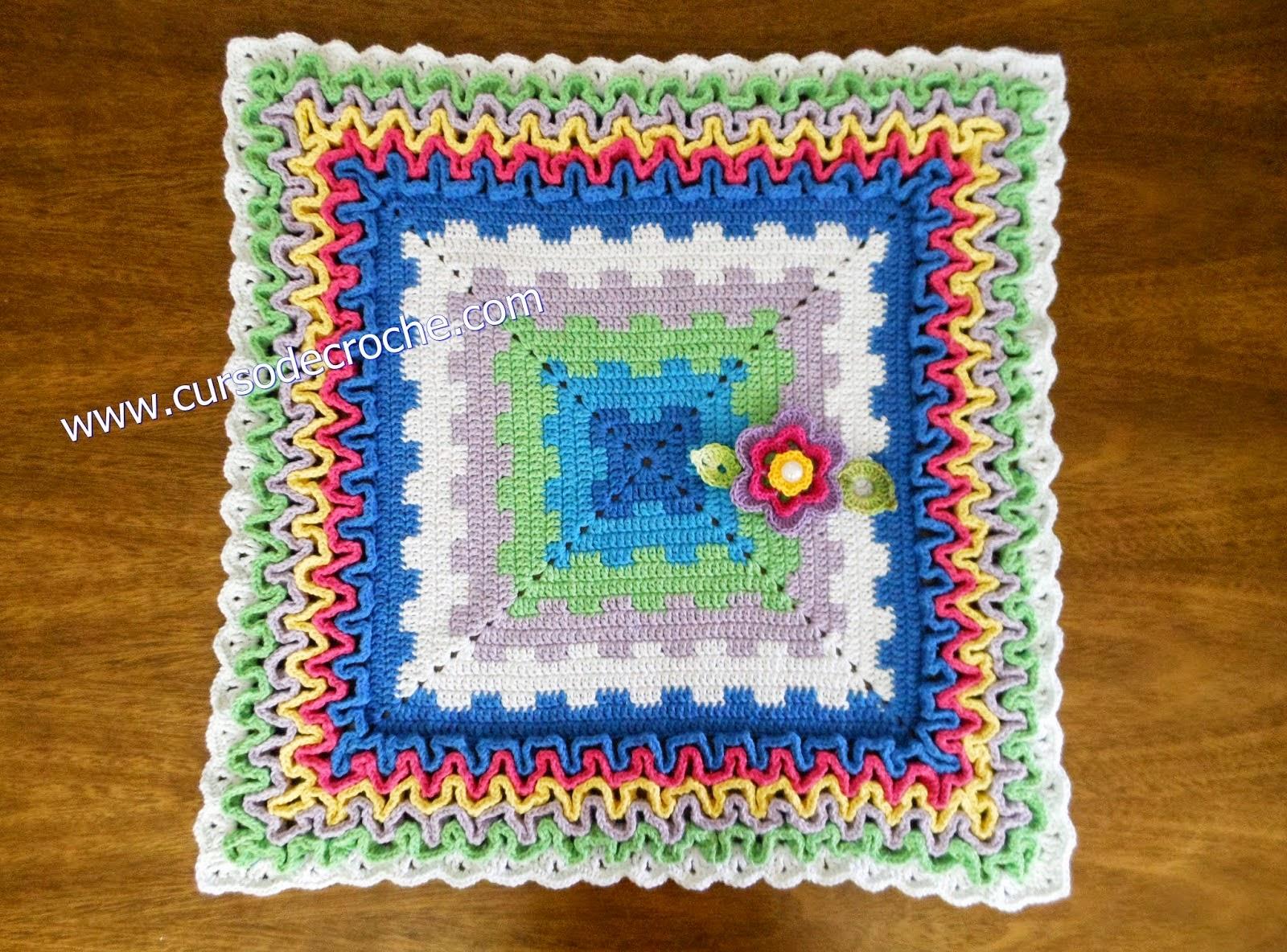 aprender croche tapetes quadrados square coloridos barrados ponto labirinto dvd video-aulas loja curso de croche frete gratis edinir-croche