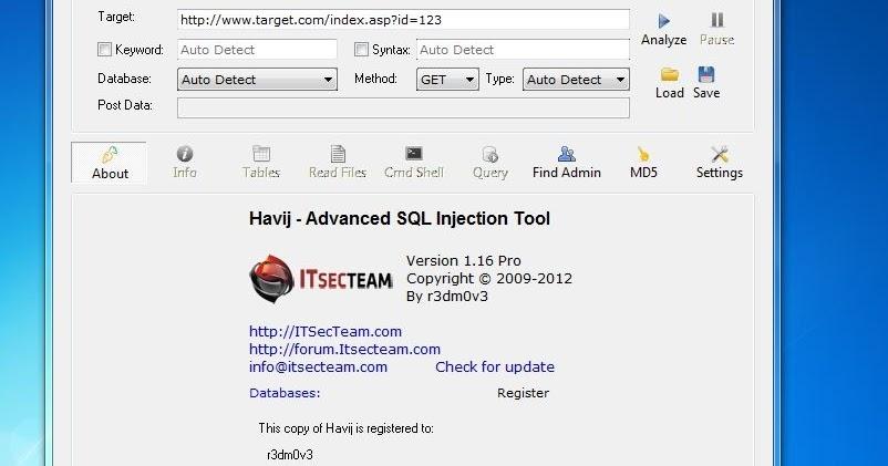 download havij 1.16 pro cracked portable