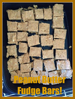 Clean Eating Peanut Butter Fudge Bars.  Clean Eating Desserts!