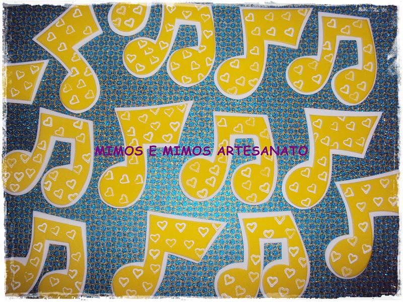 Molde De Notas Musicais Em Eva