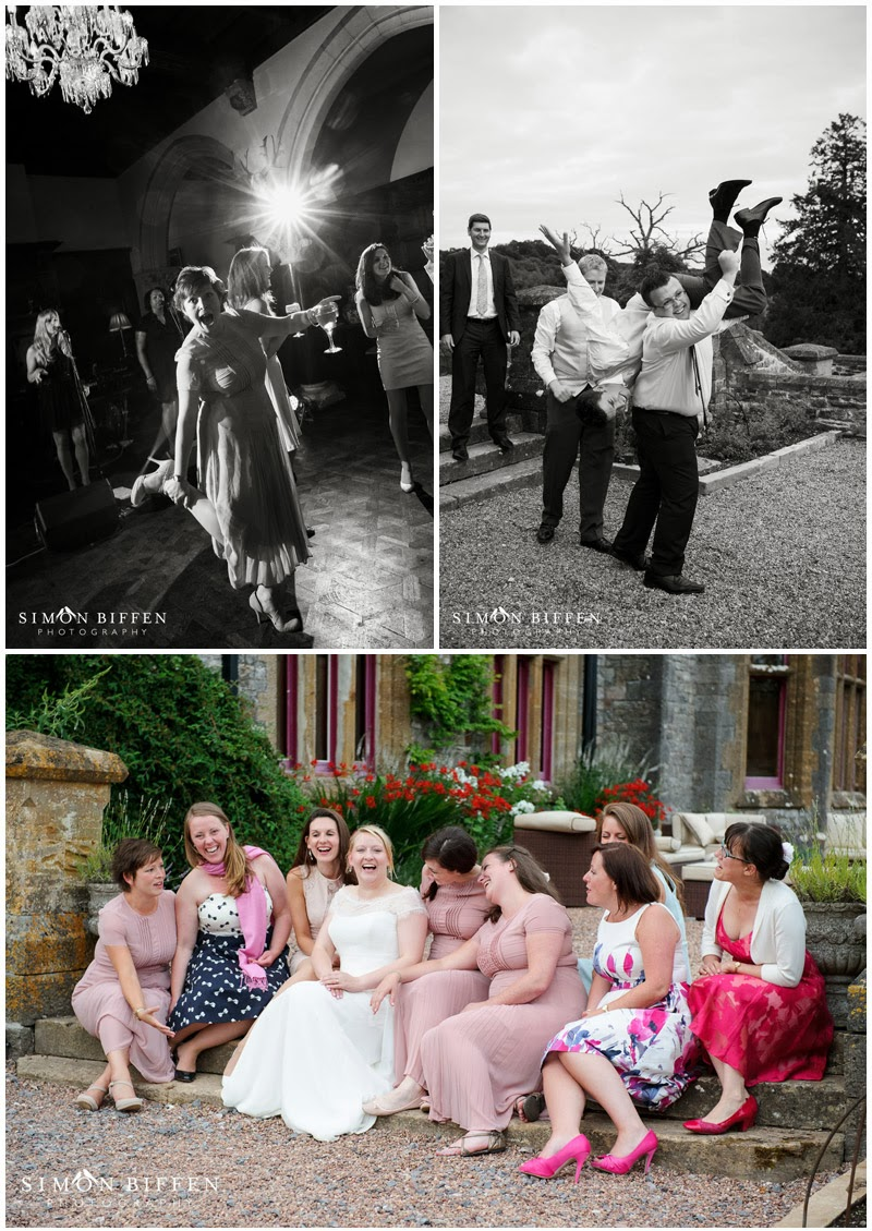 Wedding reception photography at Huntsham Court