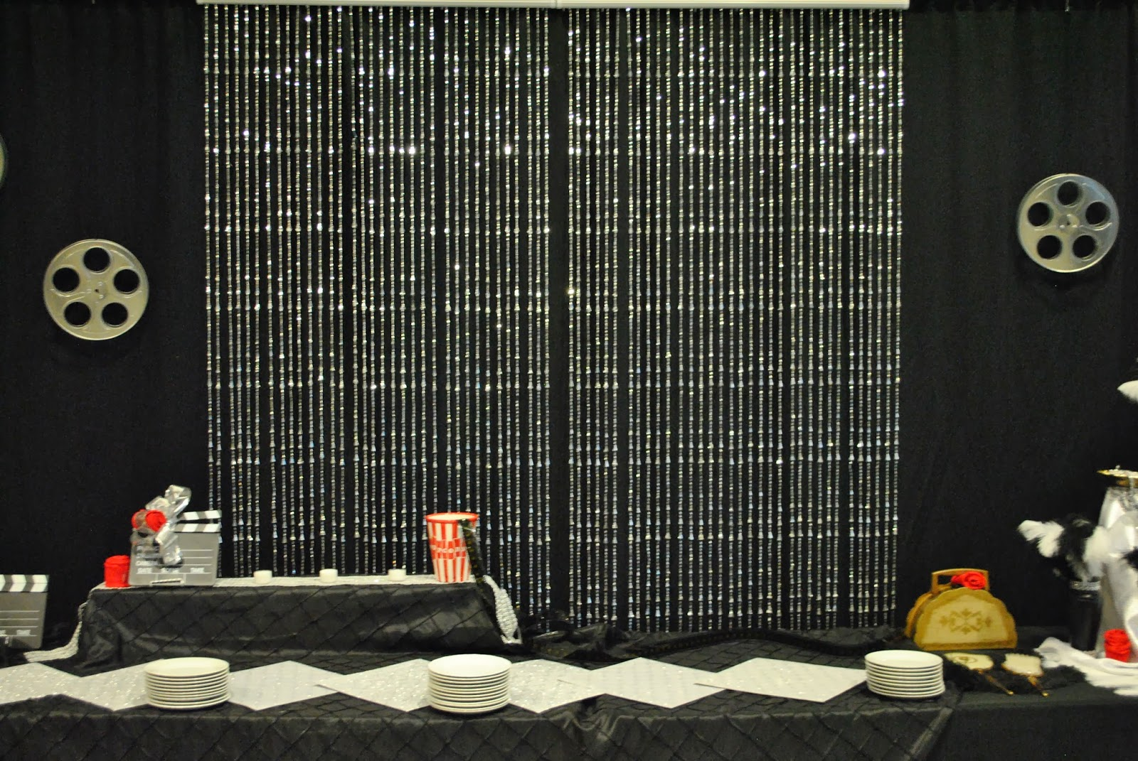 Beaded Curtains For Closets Beaded curtains behind dessert