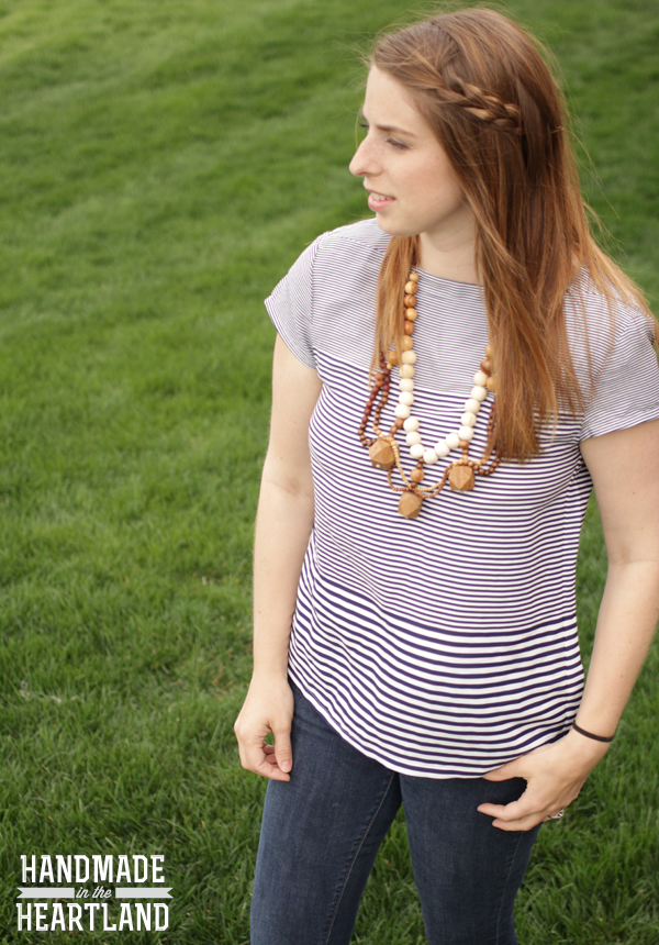 Refashioned thrifted wooden bead necklace tutorial, handmadeintheheartland.com