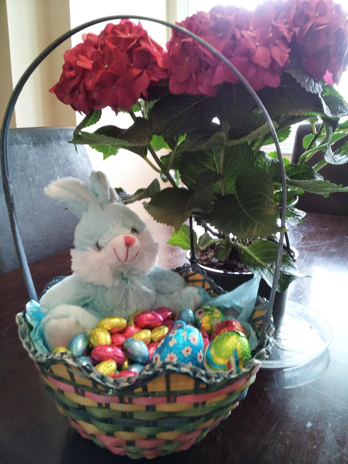 Easter basket, Easter flowers, Easter decorations