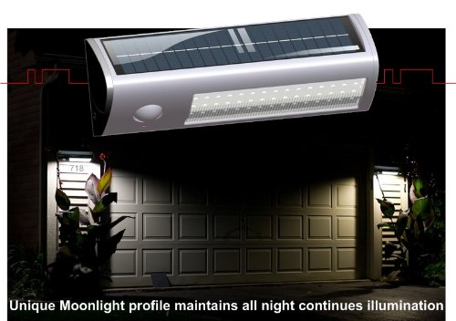eLEDing Pure Digital Solar Powered Motion Activated 60 LED Security