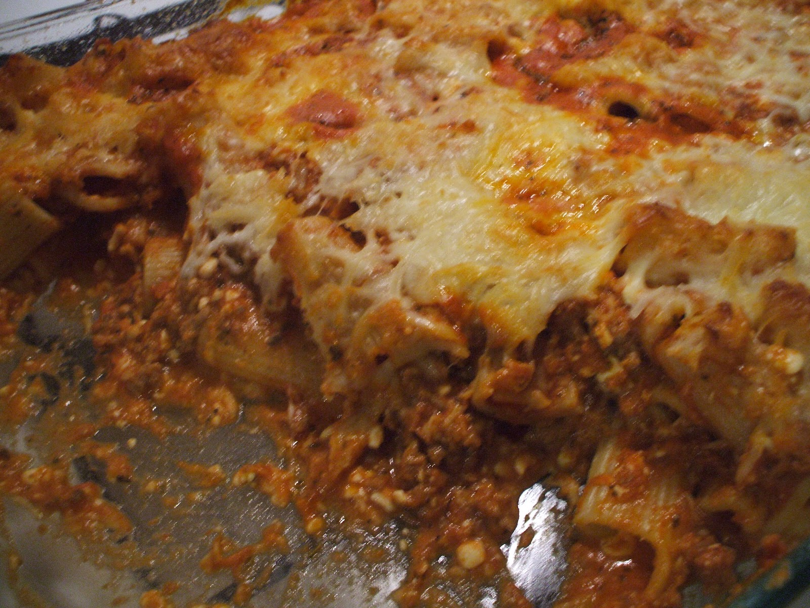 Baked Ziti - very easy and good when you need a large dish!